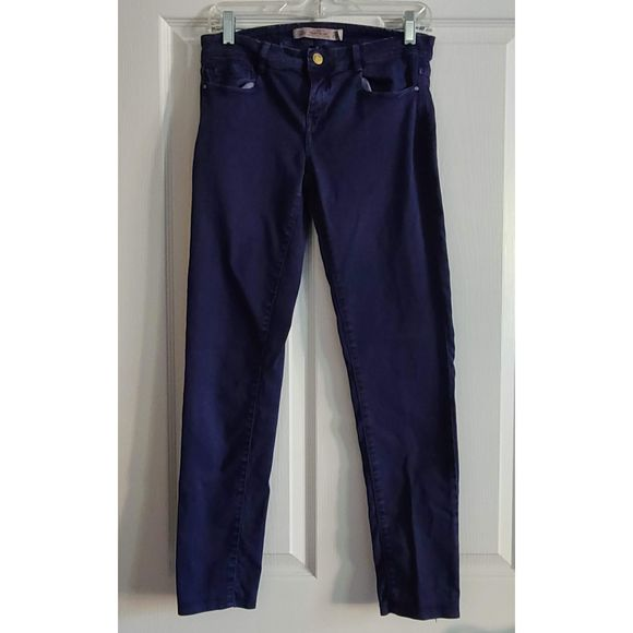 ZARA Purple Denim Skinny Jeans Size 6